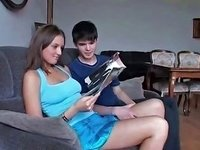 Aroused Cute Brunette Teen With Great Part4