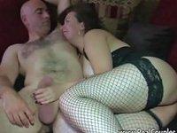 Husband Anally Fucking Chubby Wife